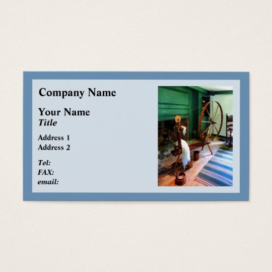 Large Spinning Wheel Business Card