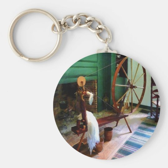 Large Spinning Wheel Keychain