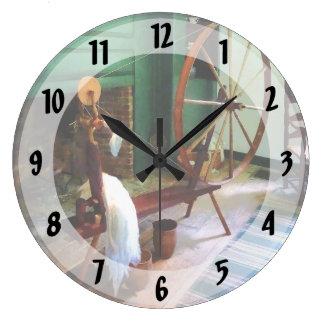 Large Spinning Wheel Large Clock