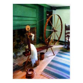 Large Spinning Wheel Postcard