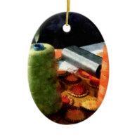 Large Spools of Thread Christmas Ornament