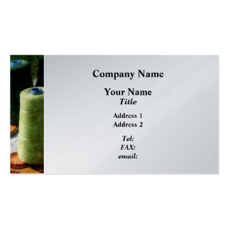 Large Spools of Thread - Platinum Double-Sided Standard Business Cards (Pack Of 100)