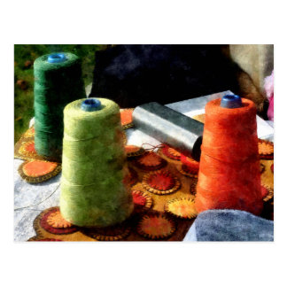 Large Spools of Thread Postcard
