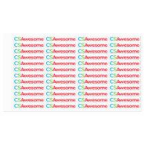 Large Square Adhesive / Waterproof Label