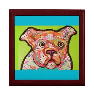 Large Square Gift Box with Bright Eyed Dog