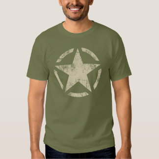Large Star Grunge Distressed Style T-shirt