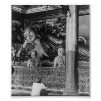 Large Statue of Buddha in Thailand Print
