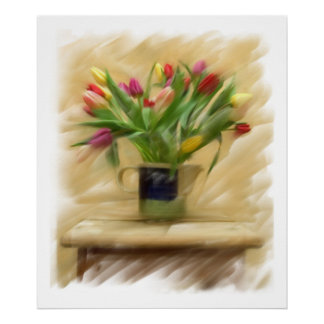 Large Still Life on Canvas Poster
