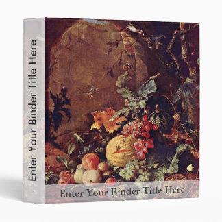 Large Still Life With Bird'S Nest By Heem Jan Davi Vinyl Binders