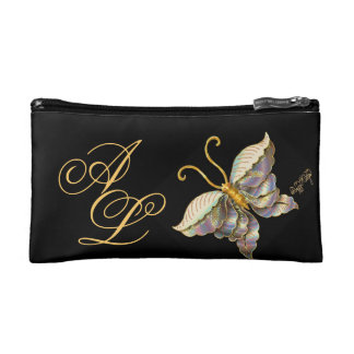 Large stylistic butterfly makeup bag