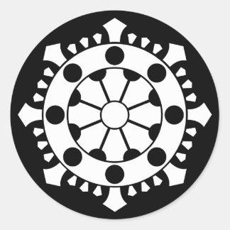 Large sun treasure classic round sticker