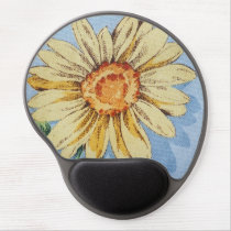 Large sunflower design, gel mousepad. gel mouse pad