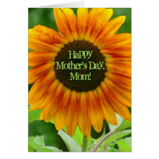 LARGE SUNFLOWER/MOTHER'S DAY/TAUGHT ME HOW TO BE A CARD