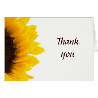 Large Sunflower - Thank You Card