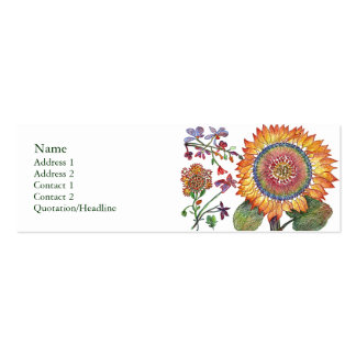 Large Sunshine Flower Profile Card Double-Sided Mini Business Cards (Pack Of 20)