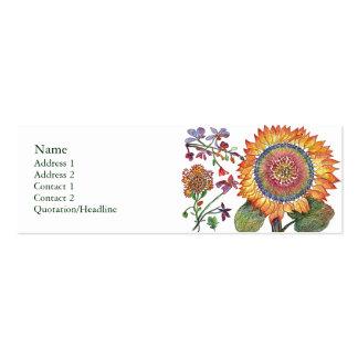 Large Sunshine Flower Profile Card Mini Business Card