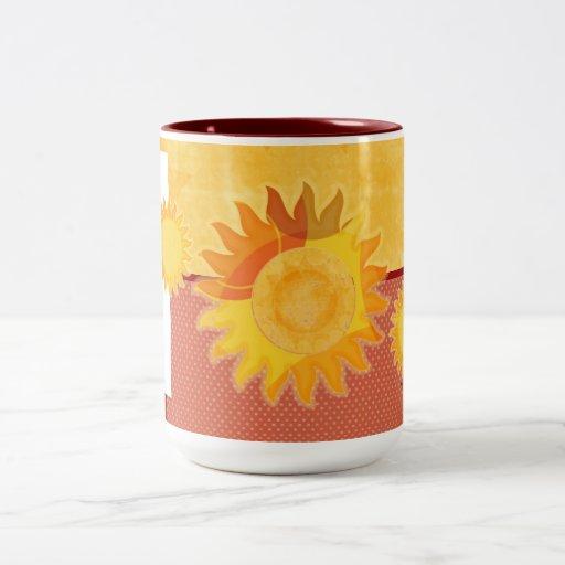 Large Sunshine  Orange Mix Mug Mugs