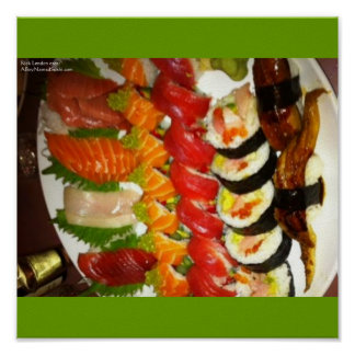 Large Sushi Plate (Mix) Fine Art Posters Poster