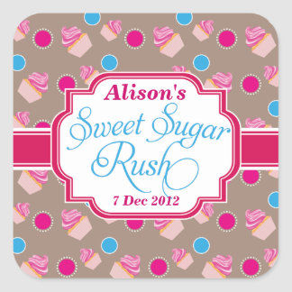 large Sweet Sugar Rush Cute Cupcake Stickers