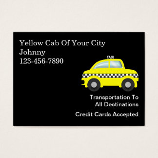 Large Taxi Business Cards