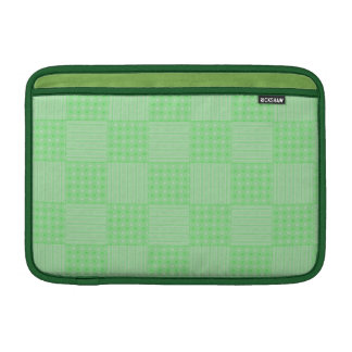 Large Textured Green Patchwork Pattern MacBook Air Sleeve