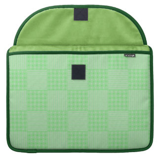 Large Textured Green Patchwork Pattern Sleeve For MacBooks