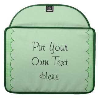 Large Textured Green Patchwork Pattern MacBook Pro Sleeves