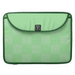 Large Textured Green Patchwork Pattern MacBook Pro Sleeve