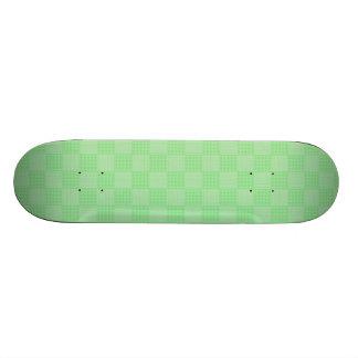 Large Textured Green Patchwork Pattern Skate Decks