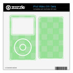 Large Textured Green Patchwork Pattern iPod Video 5G Skins