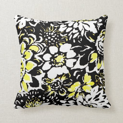 Throw Pillows With Large Flowers : Large Throw Pillow Bold Flower Design Zazzle