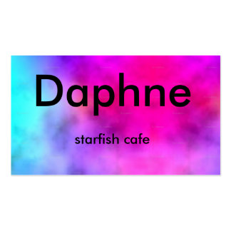 Large_tie-dye_highres, Daphne, café de las estrell Plantilla De Tarjeta De Negocio
