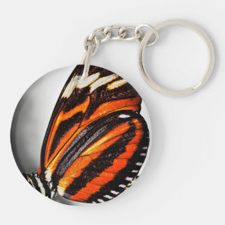 Large tiger butterfly keychain