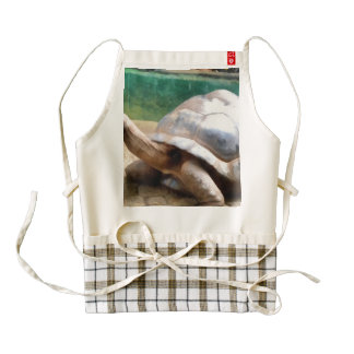 Large tortoise with head up zazzle HEART apron