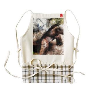 Large tortoise zazzle HEART apron