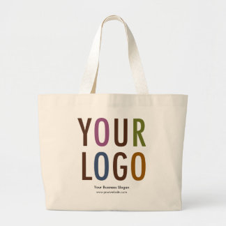 Large Tote Bag with Custom Logo Natural Cotton