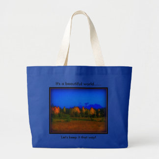 Large tote  bag with Impressionist photo
