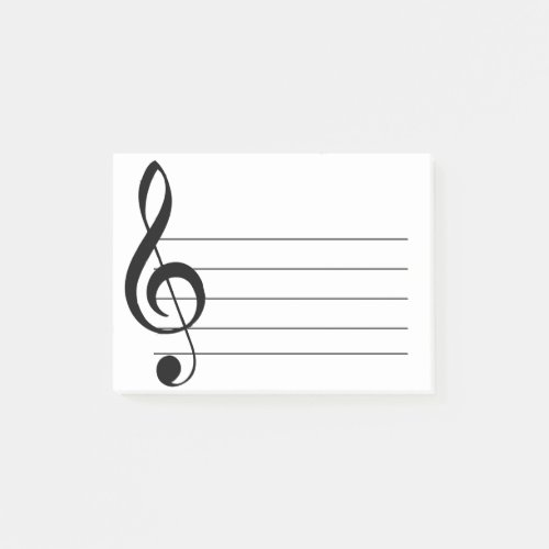 Large Treble Clef Musical Post_It Notes