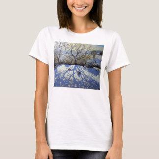 Large tree and tobogganers Youlgreave T-Shirt