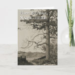 [ Thumbnail: Large Tree, Nature Landscape Birthday Card ]