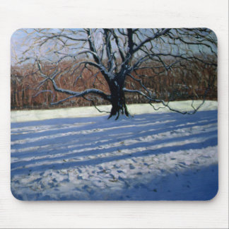 Large Tree Snow Calke Abbey Mouse Pad