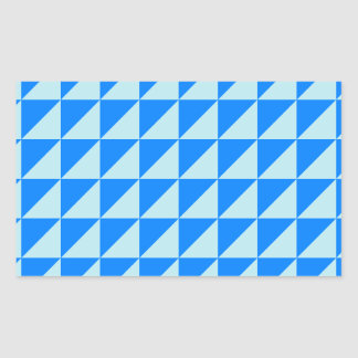 Large Triangles - Blizzard Blue and Azure Rectangular Sticker