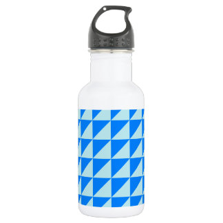 Large Triangles - Blizzard Blue and Azure Water Bottle