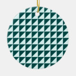 Large Triangles - Celeste and Deep Jungle Green Christmas Tree Ornaments