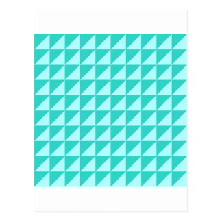 Large Triangles - Celeste and Turquoise Postcard