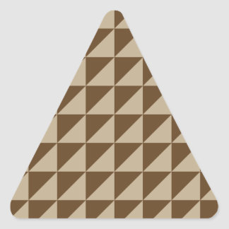 Large Triangles - Khaki and Dark Brown Stickers