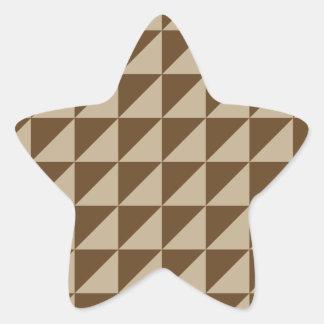 Large Triangles - Khaki and Dark Brown Sticker