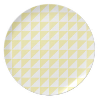 Large Triangles - Light Yellow and Corn Plate