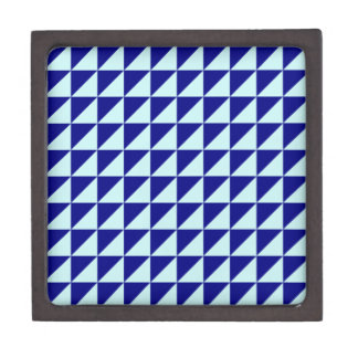 Large Triangles - Pale Blue and Navy Blue Premium Gift Box