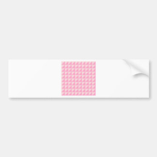 Large Triangles - Pale Pink and Carnation Pink Car Bumper Sticker